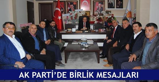 AK Parti'de birlik mesajları