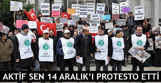 Aktif Sen 14 Aralık'ı protesto etti