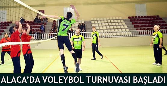Alaca'da Voleybol Turnuvası başladı