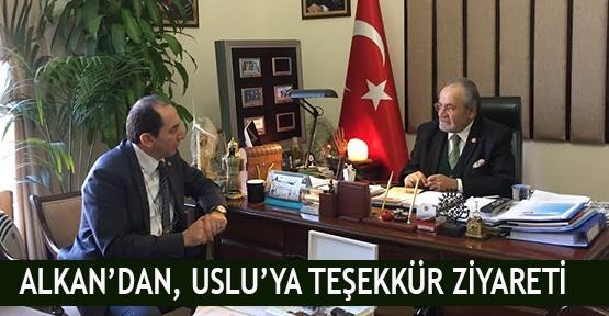 Alkan'dan, Uslu'ya teşekkür ziyareti