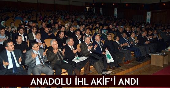 Anadolu İHL Akif'i andı