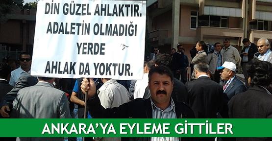 Ankara'ya eyleme gittiler
