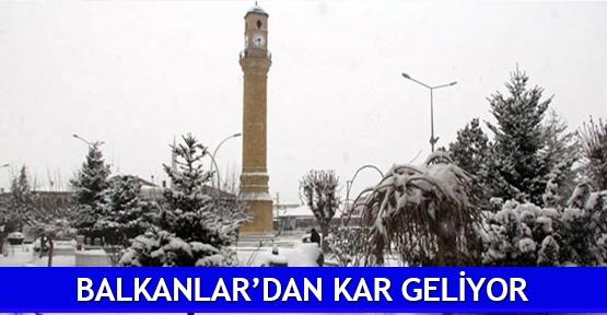 Balkanlar'dan kar geliyor