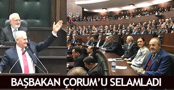 Başbakan Çorum'u selamladı
