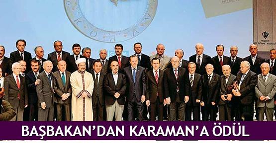 Başbakan'dan Karaman'a ödül