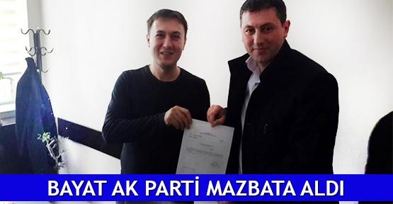 Bayat AK Parti mazbata aldı