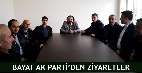 Bayat AK Parti'den ziyaretler