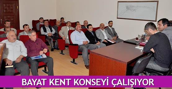 Bayat Kent Konseyi çalışıyor