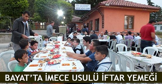 Bayat'ta imece usulü iftar yemeği