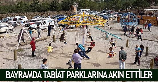 Bayramda tabiat parklarına akın ettiler