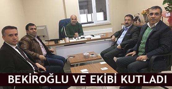 Bekiroğlu ve ekibi kutladı