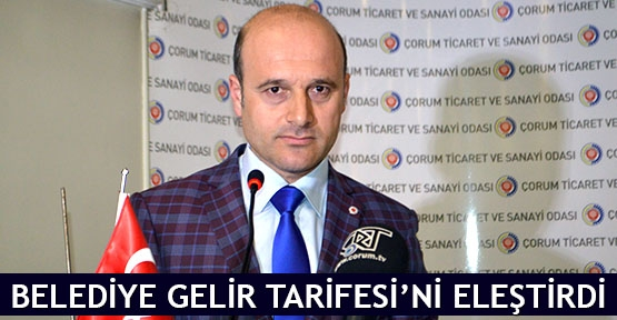 Belediye Gelir Tarifesi'ni eleştirdi