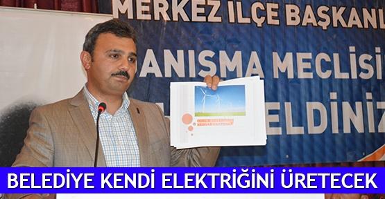 Belediye kendi elektriğini üretecek