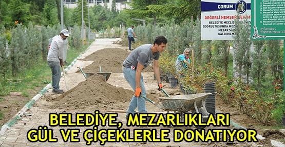 Belediye, Mezarlıkları Gül Ve Çiçeklerle Donatıyor
