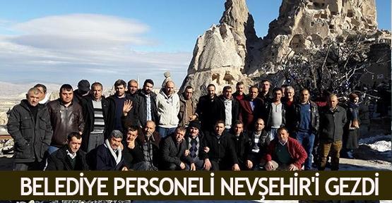 Belediye personeli Nevşehir'i gezdi