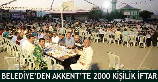 Belediye'den Akkent'te 2000 kişilik iftar
