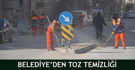 Belediye'den toz temizliği