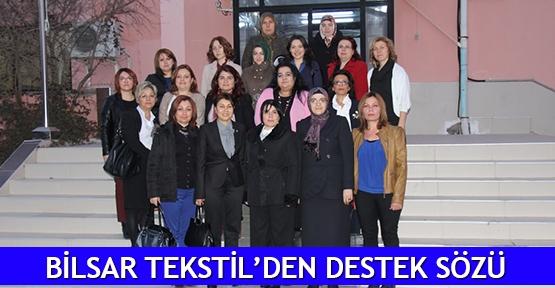 Bilsar Tekstil'den destek sözü