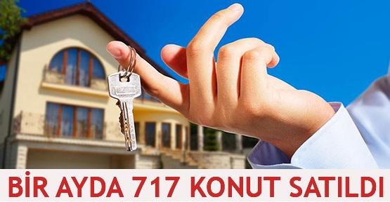 Bir ayda 717 konut satıldı