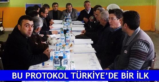 Bu protokol Türkiye'de bir ilk