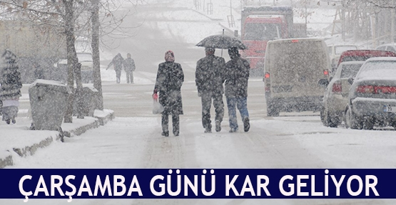 Çarşamba günü kar geliyor