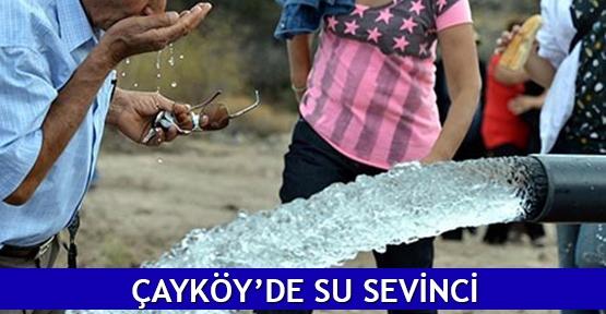 Çayköy'de su sevinci