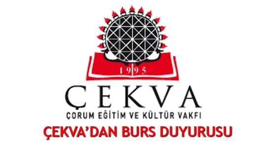 ÇEKVA'dan burs duyurusu