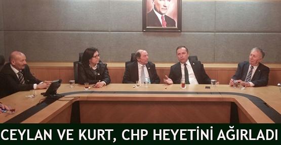 Ceylan ve Kurt, CHP Heyetini Ağırladı