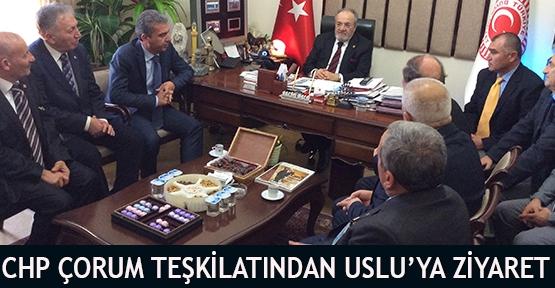CHP Çorum Teşkilatından Uslu'ya Ziyaret