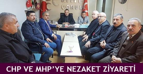 CHP ve MHP'ye nezaket ziyareti