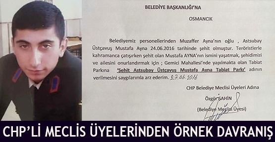 CHP'li Meclis Üyelerinden Örnek Davranış