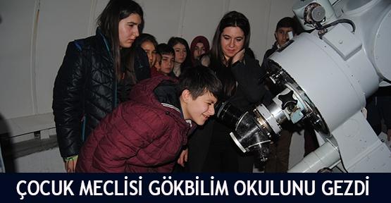 Çocuk Meclisi Gökbilim Okulunu gezdi