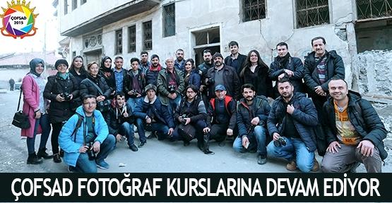 ÇOFSAD fotoğraf kurslarına devam ediyor