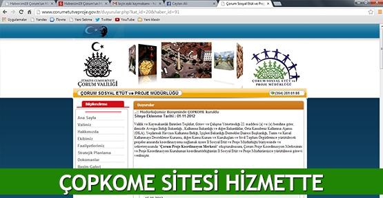 ÇOPKOME sitesi hizmette