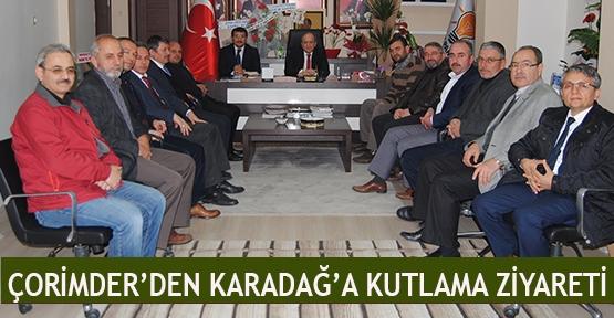 ÇORİMDER'den Karadağ'a kutlama ziyareti