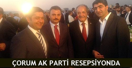 Çorum AK Parti resepsiyonda