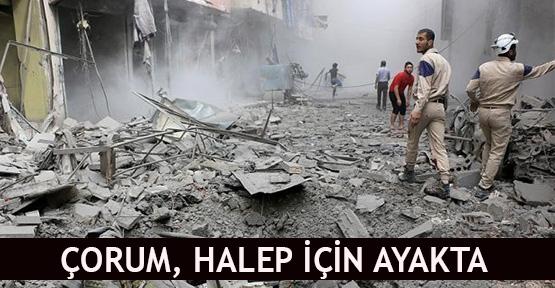 Çorum, Halep için ayakta