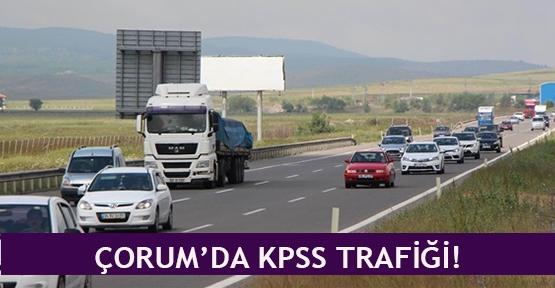 Çorum'da KPSS trafiği!