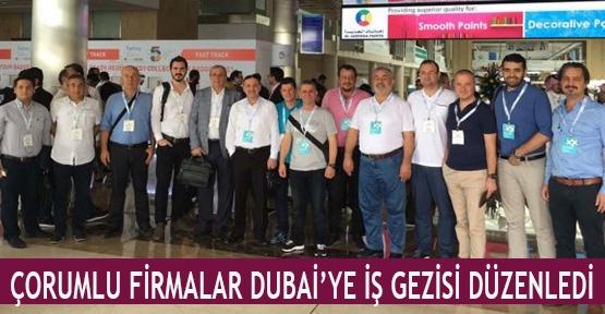 Çorumlu firmalar Dubai'ye iş gezisi düzenledi
