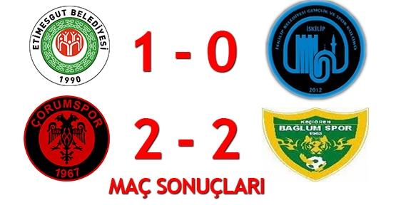 Çorumspor ile İskilip Belediyespor maç sonuçları