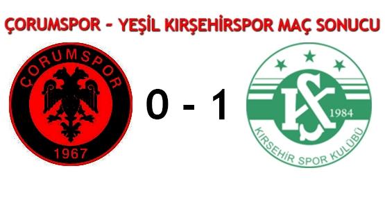 Çorumspor-Yeşil Kırşehirspor maç sonucu