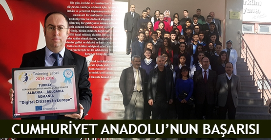 Cumhuriyet Anadolu'nun başarısı