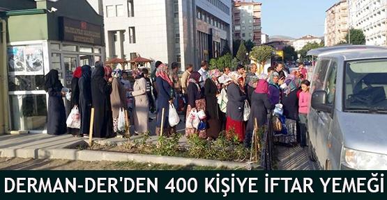 Derman-Der'den 400 kişiye iftar yemeği