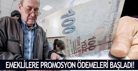 Emeklilere promosyon ödemeleri başladı!