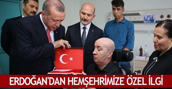 Erdoğan'dan hemşehrimize özel ilgi
