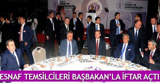 Esnaf temsilcileri Başbakan'la iftar açtı