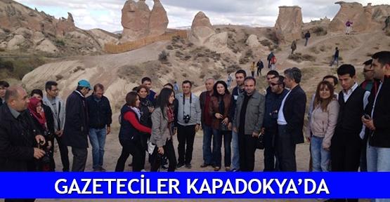 Gazeteciler Kapadokya'da