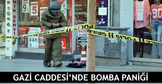 Gazi Caddesi'nde bomba paniği