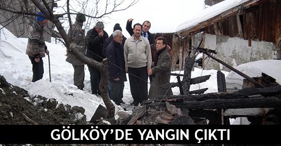 Gölköy'de yangın çıktı