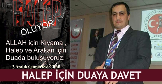 Halep için duaya davet